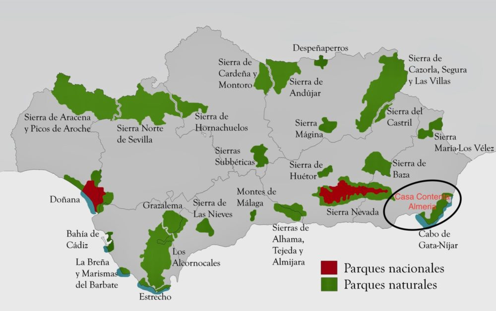 Maps national parcs