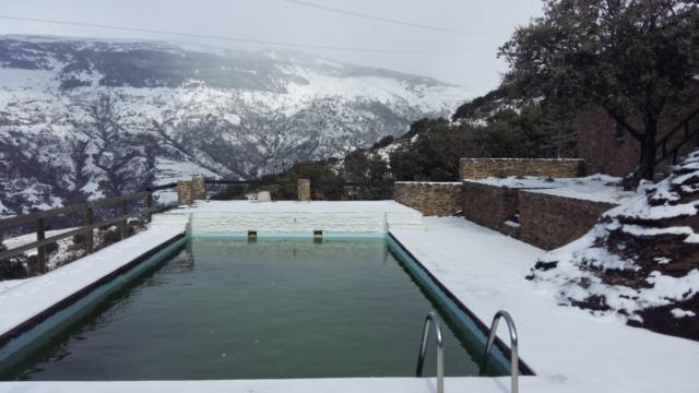Cortijo en Capileira winter