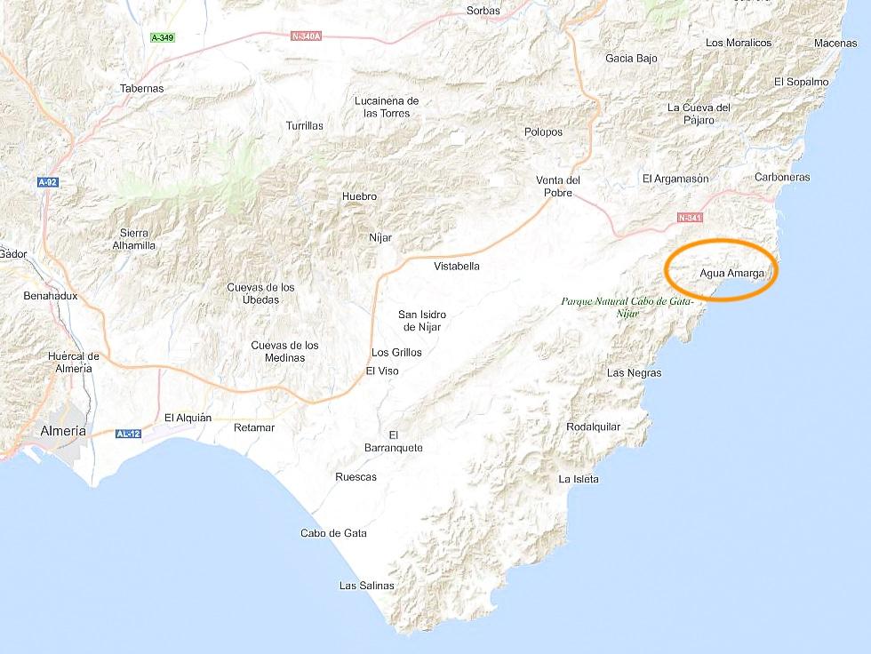 La Joya de Cabo de Gata-Nijar, Agua Amarga, Almeria