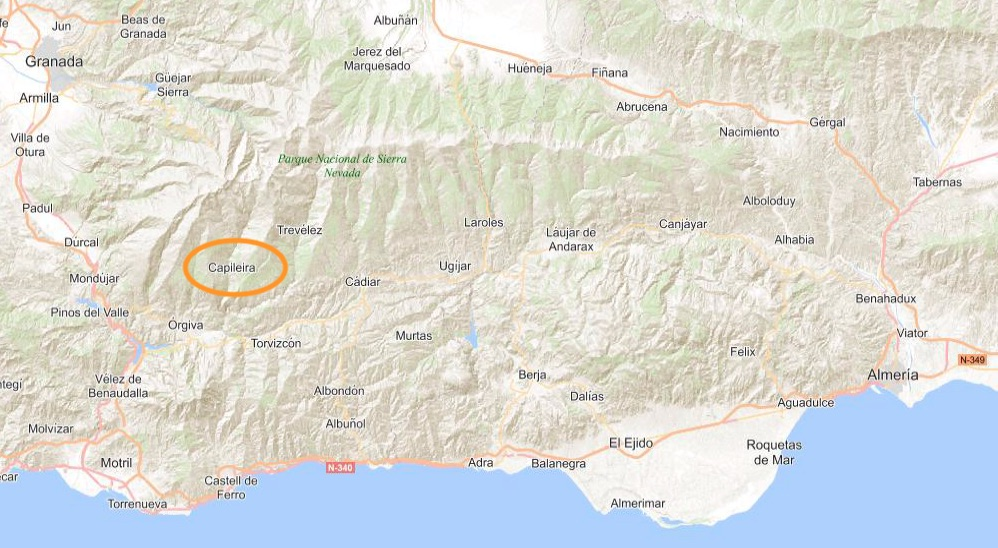 Map Capileira