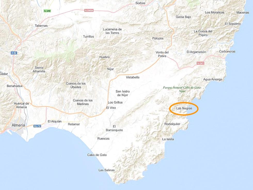 Map Almeria